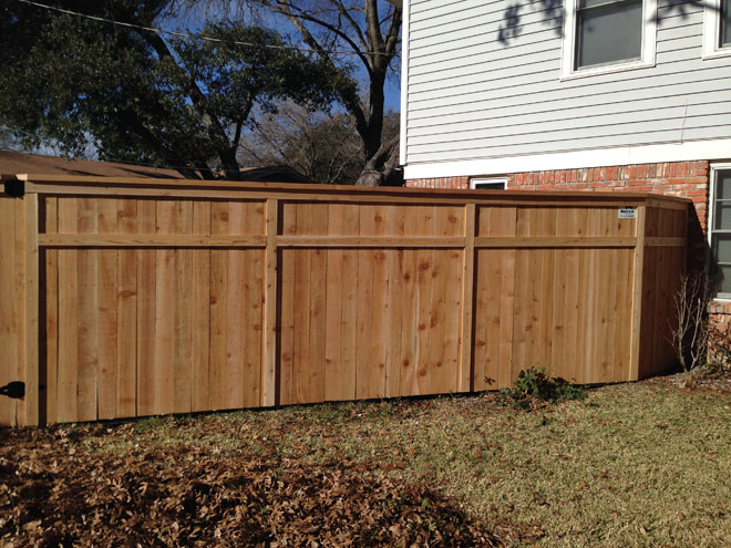 6 ft custom cedar cap & trim privacy fence